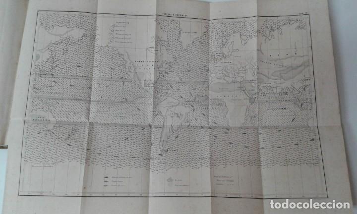 Libros antiguos: GEOGRAFIA DEL MAR MAURY ILUSTRADA CON MAPAS CORRIENTES HURACANES AÑO 1860 - Foto 11 - 181613560