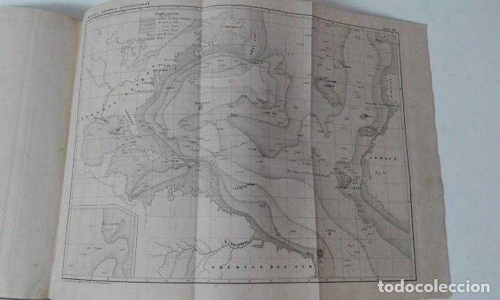 Libros antiguos: GEOGRAFIA DEL MAR MAURY ILUSTRADA CON MAPAS CORRIENTES HURACANES AÑO 1860 - Foto 14 - 181613560