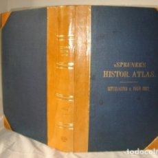 Libros antiguos: ATLAS HISTÓRICO SPRUNER, 1880, 90 MAPAS GRABADOS AL ACERO, ANTIGUO NO VIEJO, IMPECABLE CON ESTUCHE. Lote 181812382