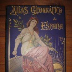 Libros antiguos: IMPECABLE ATLAS DE ESPAÑA, 52 MAPAS COROGRÁFICOS, CHIAS Y CARBÓ, BARCELONA, 1903, PERFECTO ESTADO. Lote 181812915