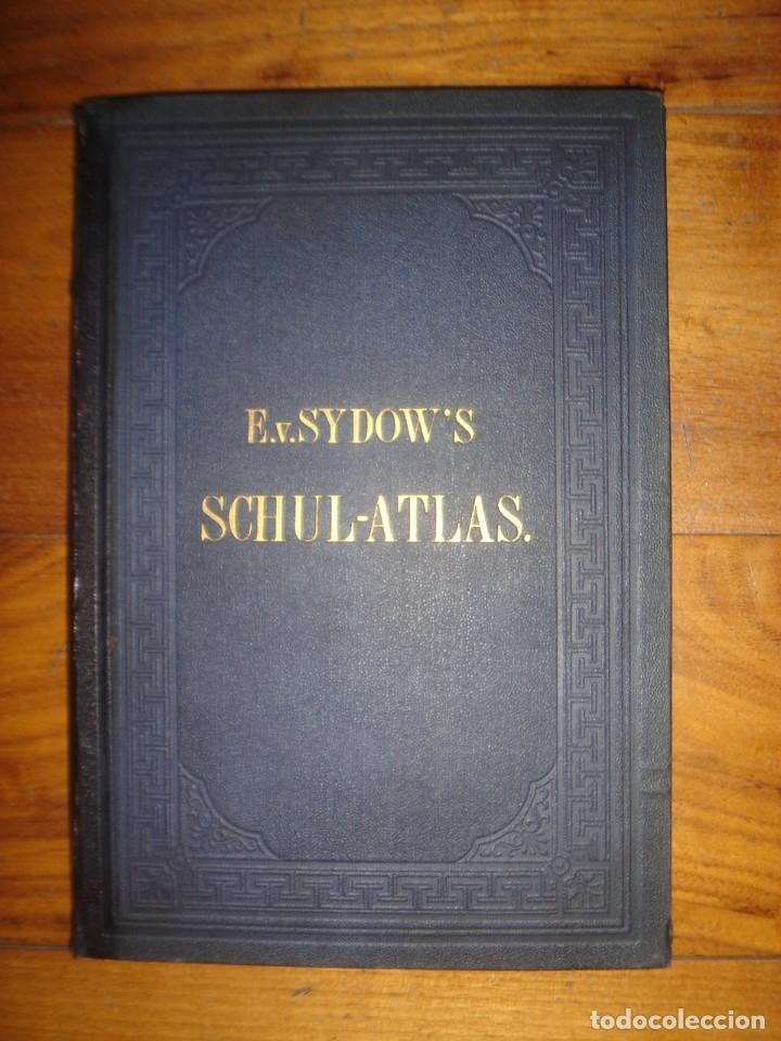 ATLAS UNIVERSAL SYDOW´S, GHOTA 1881, 41 MAPAS EN UN MARAVILLOSO ESTADO, COLOREADOS. (Libros Antiguos, Raros y Curiosos - Geografía y Viajes)