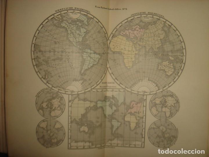 Libros antiguos: ATLAS UNIVERSAL SYDOW´S, GHOTA 1881, 41 MAPAS EN UN MARAVILLOSO ESTADO, COLOREADOS. - Foto 13 - 181813587