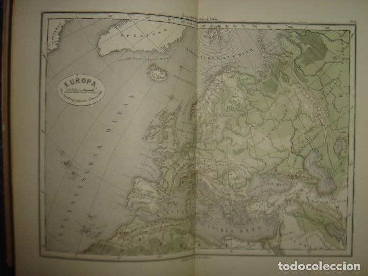 Libros antiguos: ATLAS UNIVERSAL SYDOW´S, GHOTA 1881, 41 MAPAS EN UN MARAVILLOSO ESTADO, COLOREADOS. - Foto 17 - 181813587