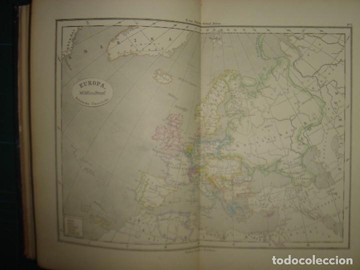 Libros antiguos: ATLAS UNIVERSAL SYDOW´S, GHOTA 1881, 41 MAPAS EN UN MARAVILLOSO ESTADO, COLOREADOS. - Foto 18 - 181813587