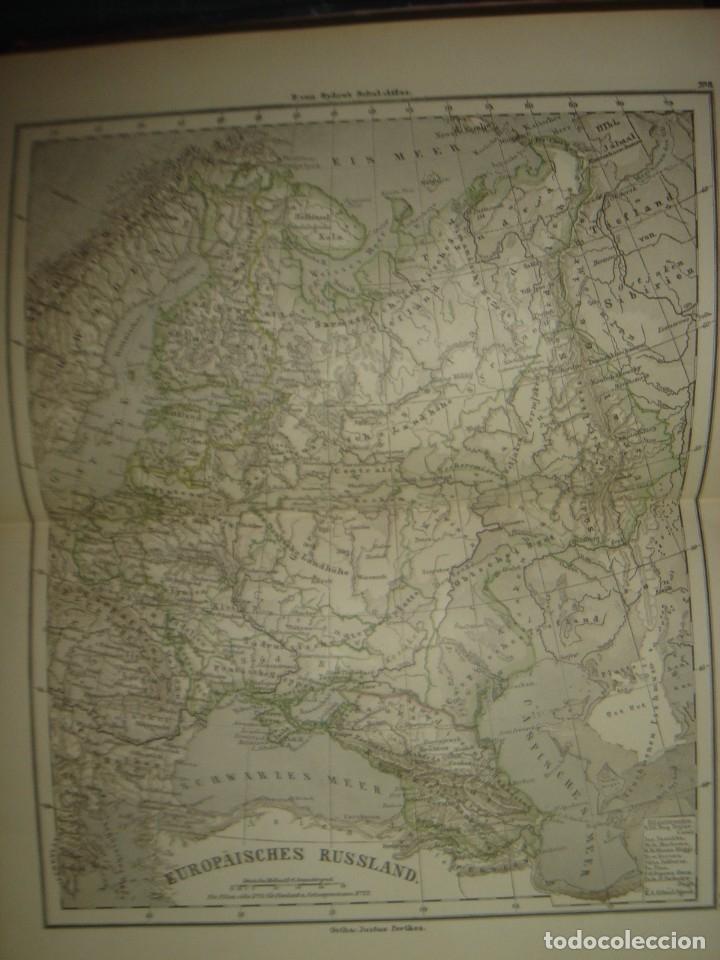 Libros antiguos: ATLAS UNIVERSAL SYDOW´S, GHOTA 1881, 41 MAPAS EN UN MARAVILLOSO ESTADO, COLOREADOS. - Foto 19 - 181813587