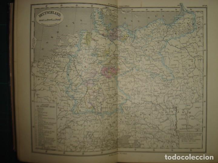 Libros antiguos: ATLAS UNIVERSAL SYDOW´S, GHOTA 1881, 41 MAPAS EN UN MARAVILLOSO ESTADO, COLOREADOS. - Foto 21 - 181813587
