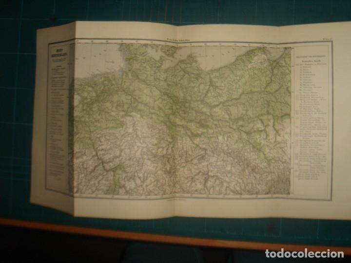 Libros antiguos: ATLAS UNIVERSAL SYDOW´S, GHOTA 1881, 41 MAPAS EN UN MARAVILLOSO ESTADO, COLOREADOS. - Foto 22 - 181813587