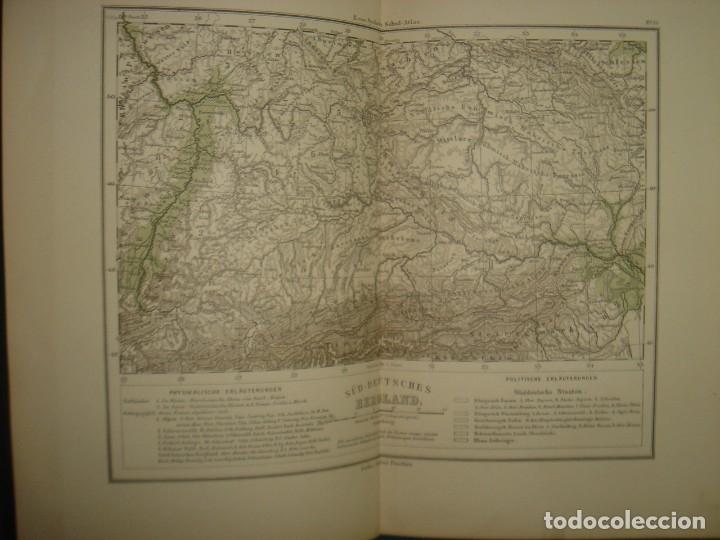 Libros antiguos: ATLAS UNIVERSAL SYDOW´S, GHOTA 1881, 41 MAPAS EN UN MARAVILLOSO ESTADO, COLOREADOS. - Foto 23 - 181813587