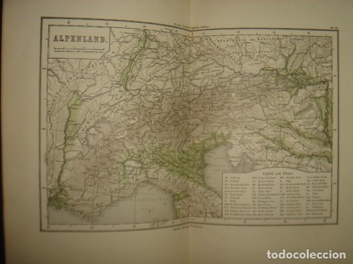 Libros antiguos: ATLAS UNIVERSAL SYDOW´S, GHOTA 1881, 41 MAPAS EN UN MARAVILLOSO ESTADO, COLOREADOS. - Foto 24 - 181813587