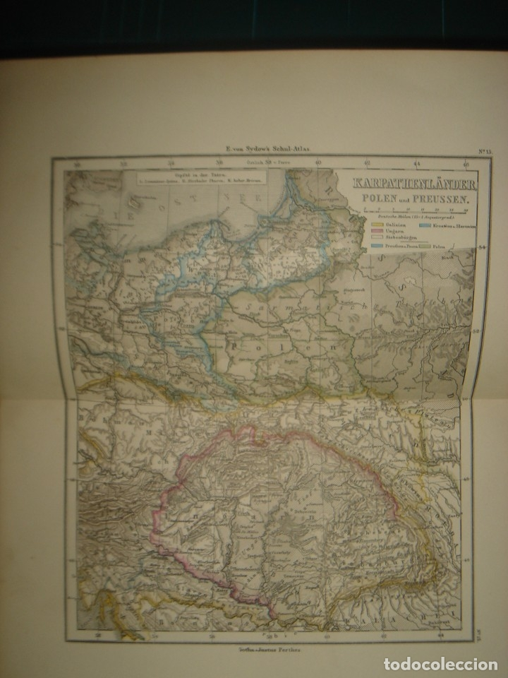 Libros antiguos: ATLAS UNIVERSAL SYDOW´S, GHOTA 1881, 41 MAPAS EN UN MARAVILLOSO ESTADO, COLOREADOS. - Foto 25 - 181813587