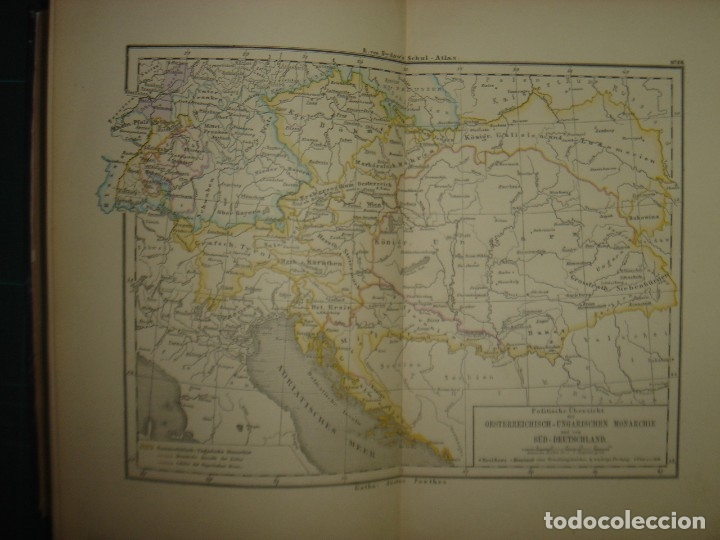 Libros antiguos: ATLAS UNIVERSAL SYDOW´S, GHOTA 1881, 41 MAPAS EN UN MARAVILLOSO ESTADO, COLOREADOS. - Foto 26 - 181813587