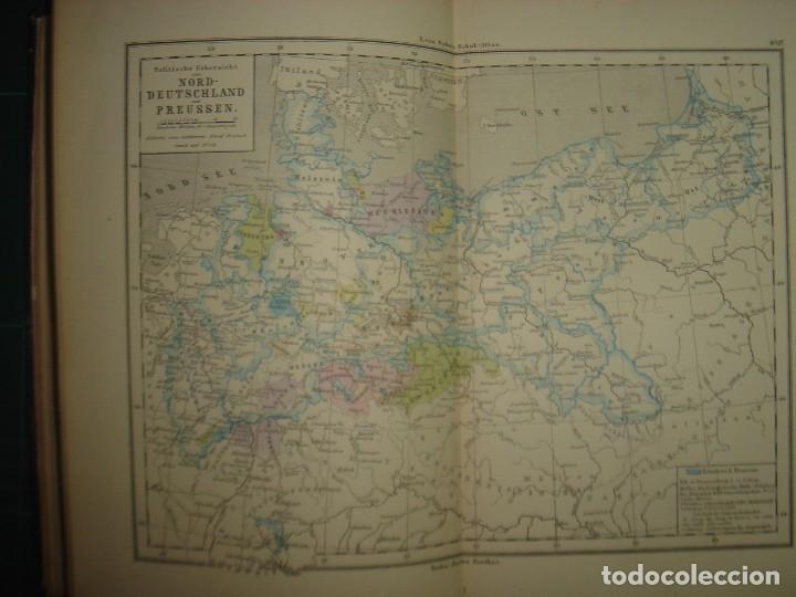 Libros antiguos: ATLAS UNIVERSAL SYDOW´S, GHOTA 1881, 41 MAPAS EN UN MARAVILLOSO ESTADO, COLOREADOS. - Foto 27 - 181813587