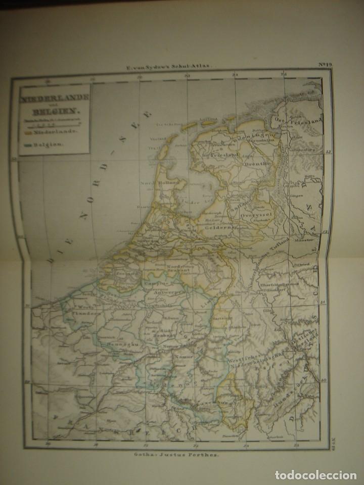 Libros antiguos: ATLAS UNIVERSAL SYDOW´S, GHOTA 1881, 41 MAPAS EN UN MARAVILLOSO ESTADO, COLOREADOS. - Foto 29 - 181813587