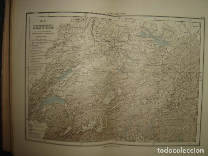 Libros antiguos: ATLAS UNIVERSAL SYDOW´S, GHOTA 1881, 41 MAPAS EN UN MARAVILLOSO ESTADO, COLOREADOS. - Foto 30 - 181813587