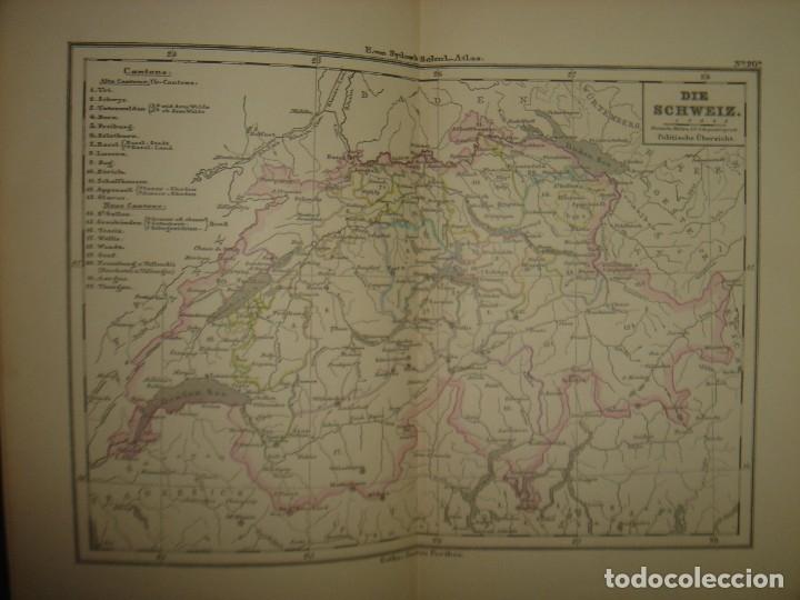 Libros antiguos: ATLAS UNIVERSAL SYDOW´S, GHOTA 1881, 41 MAPAS EN UN MARAVILLOSO ESTADO, COLOREADOS. - Foto 31 - 181813587