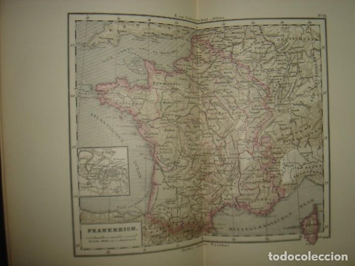 Libros antiguos: ATLAS UNIVERSAL SYDOW´S, GHOTA 1881, 41 MAPAS EN UN MARAVILLOSO ESTADO, COLOREADOS. - Foto 32 - 181813587