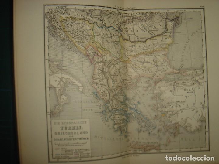 Libros antiguos: ATLAS UNIVERSAL SYDOW´S, GHOTA 1881, 41 MAPAS EN UN MARAVILLOSO ESTADO, COLOREADOS. - Foto 33 - 181813587
