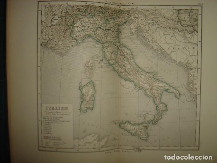 Libros antiguos: ATLAS UNIVERSAL SYDOW´S, GHOTA 1881, 41 MAPAS EN UN MARAVILLOSO ESTADO, COLOREADOS. - Foto 34 - 181813587