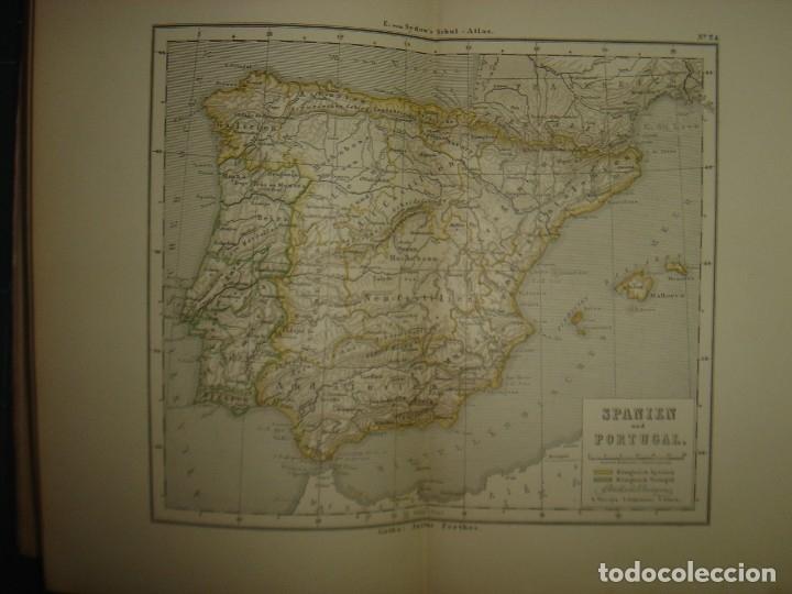Libros antiguos: ATLAS UNIVERSAL SYDOW´S, GHOTA 1881, 41 MAPAS EN UN MARAVILLOSO ESTADO, COLOREADOS. - Foto 35 - 181813587