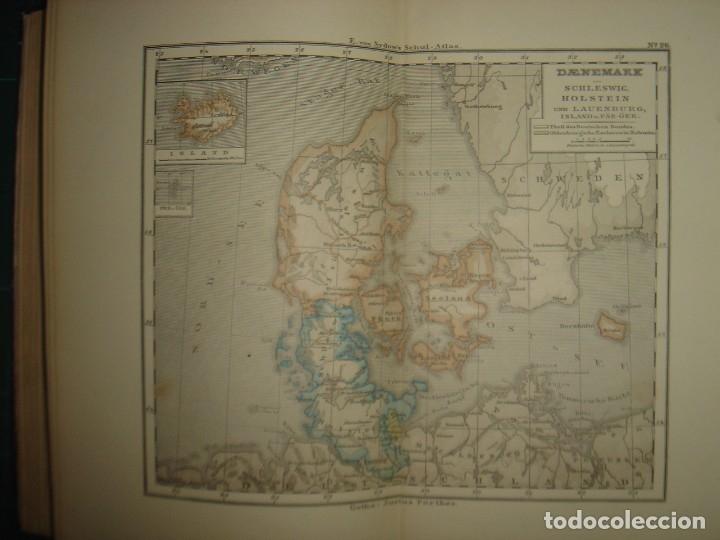 Libros antiguos: ATLAS UNIVERSAL SYDOW´S, GHOTA 1881, 41 MAPAS EN UN MARAVILLOSO ESTADO, COLOREADOS. - Foto 37 - 181813587