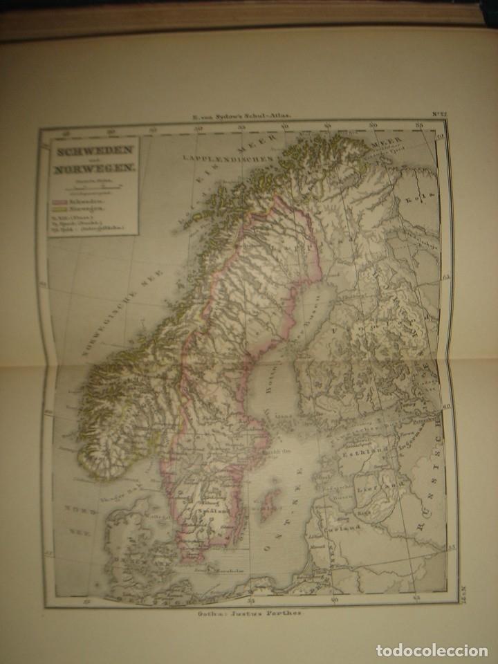 Libros antiguos: ATLAS UNIVERSAL SYDOW´S, GHOTA 1881, 41 MAPAS EN UN MARAVILLOSO ESTADO, COLOREADOS. - Foto 38 - 181813587