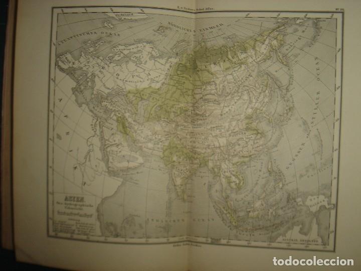 Libros antiguos: ATLAS UNIVERSAL SYDOW´S, GHOTA 1881, 41 MAPAS EN UN MARAVILLOSO ESTADO, COLOREADOS. - Foto 39 - 181813587