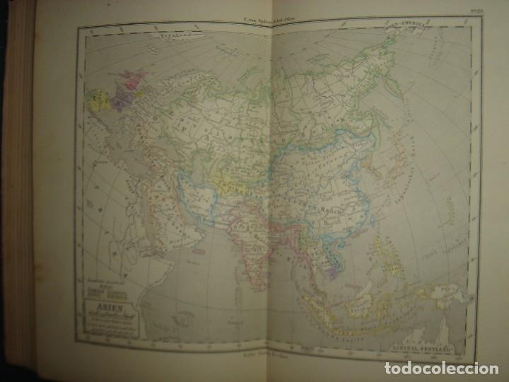 Libros antiguos: ATLAS UNIVERSAL SYDOW´S, GHOTA 1881, 41 MAPAS EN UN MARAVILLOSO ESTADO, COLOREADOS. - Foto 40 - 181813587