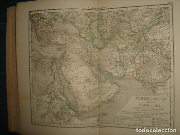 Libros antiguos: ATLAS UNIVERSAL SYDOW´S, GHOTA 1881, 41 MAPAS EN UN MARAVILLOSO ESTADO, COLOREADOS. - Foto 41 - 181813587