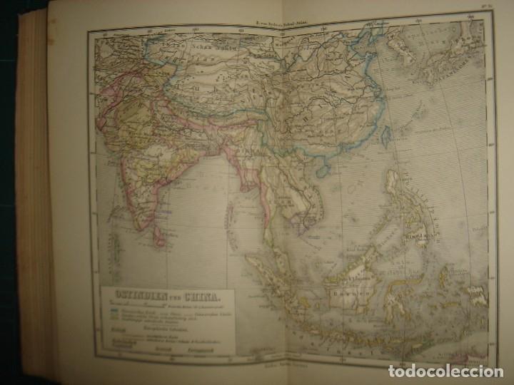 Libros antiguos: ATLAS UNIVERSAL SYDOW´S, GHOTA 1881, 41 MAPAS EN UN MARAVILLOSO ESTADO, COLOREADOS. - Foto 42 - 181813587