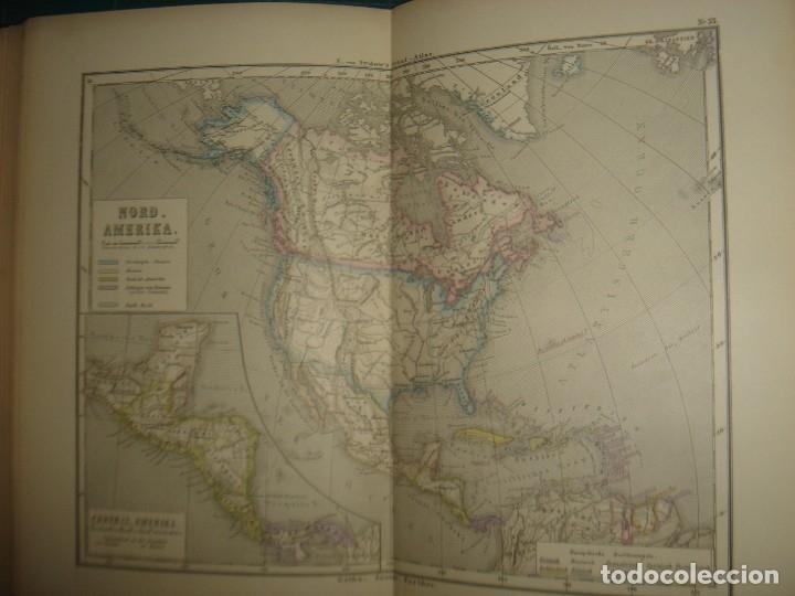 Libros antiguos: ATLAS UNIVERSAL SYDOW´S, GHOTA 1881, 41 MAPAS EN UN MARAVILLOSO ESTADO, COLOREADOS. - Foto 44 - 181813587