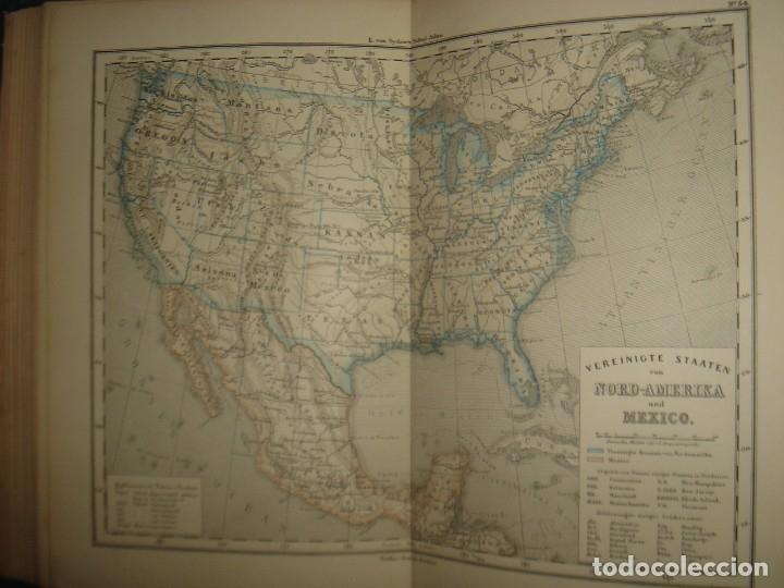 Libros antiguos: ATLAS UNIVERSAL SYDOW´S, GHOTA 1881, 41 MAPAS EN UN MARAVILLOSO ESTADO, COLOREADOS. - Foto 45 - 181813587