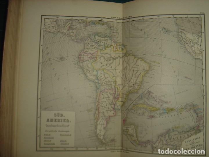 Libros antiguos: ATLAS UNIVERSAL SYDOW´S, GHOTA 1881, 41 MAPAS EN UN MARAVILLOSO ESTADO, COLOREADOS. - Foto 46 - 181813587