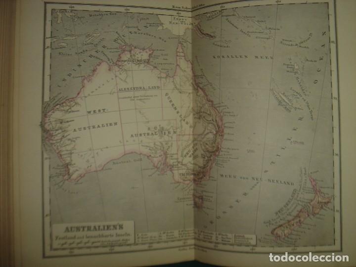 Libros antiguos: ATLAS UNIVERSAL SYDOW´S, GHOTA 1881, 41 MAPAS EN UN MARAVILLOSO ESTADO, COLOREADOS. - Foto 47 - 181813587