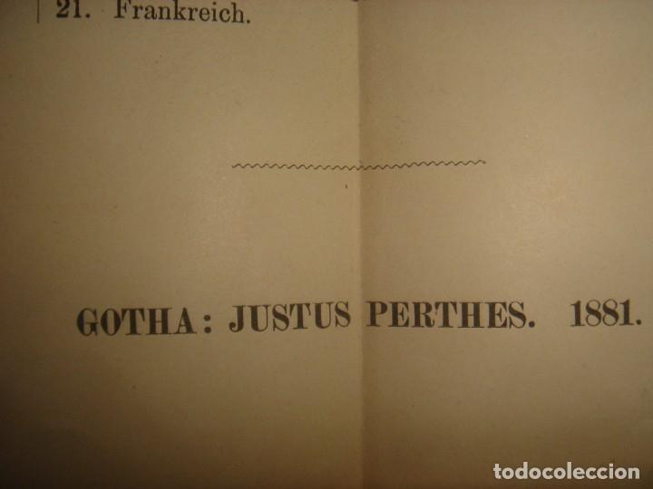 Libros antiguos: ATLAS UNIVERSAL SYDOW´S, GHOTA 1881, 41 MAPAS EN UN MARAVILLOSO ESTADO, COLOREADOS. - Foto 48 - 181813587