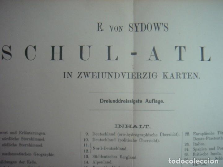 Libros antiguos: ATLAS UNIVERSAL SYDOW´S, GHOTA 1881, 41 MAPAS EN UN MARAVILLOSO ESTADO, COLOREADOS. - Foto 52 - 181813587