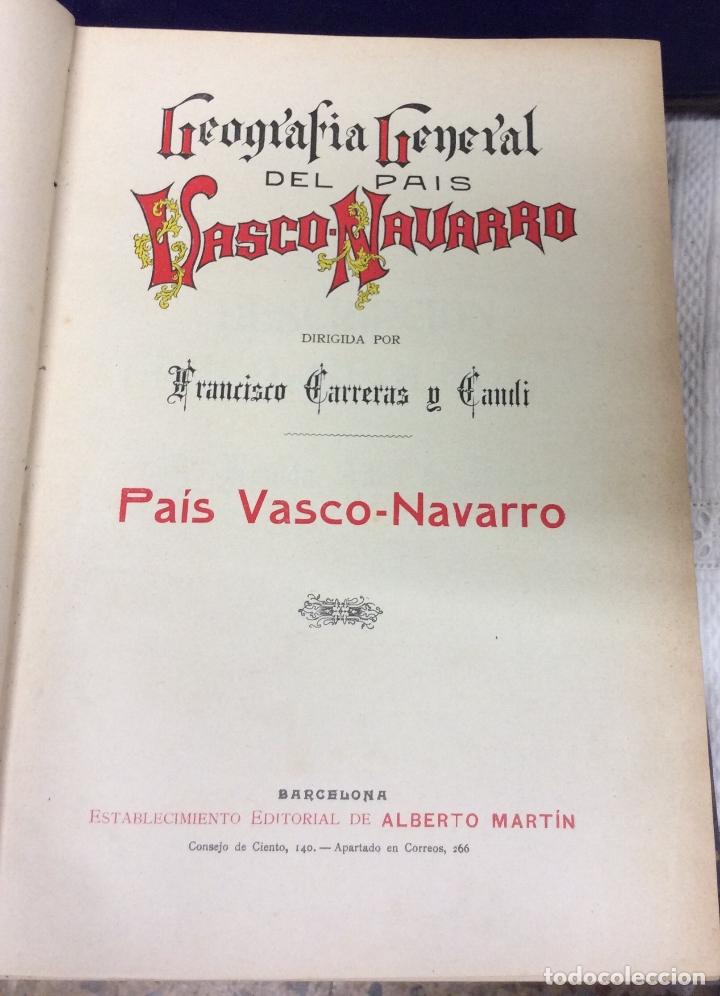 Libros antiguos: Geografía General del país Vasco-Navarro, 2 Tomos (país Vasco Navarro-Navarra - Foto 2 - 182083996