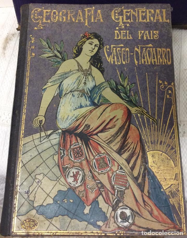 Libros antiguos: Geografía General del país Vasco-Navarro, 2 Tomos (país Vasco Navarro-Navarra - Foto 3 - 182083996