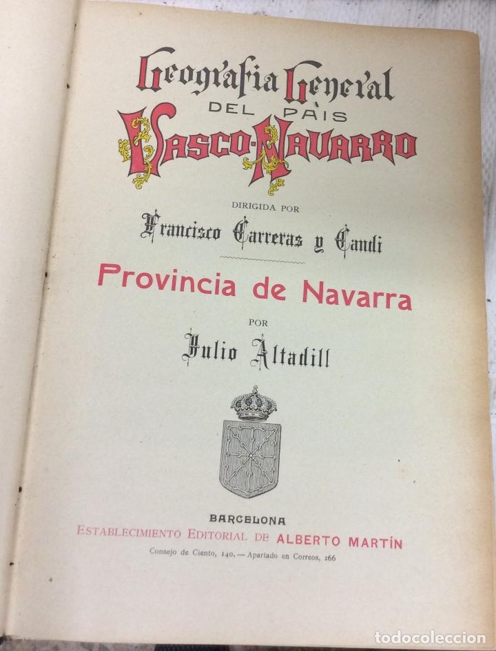 Libros antiguos: Geografía General del país Vasco-Navarro, 2 Tomos (país Vasco Navarro-Navarra - Foto 6 - 182083996