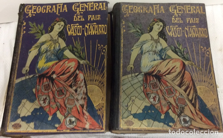 GEOGRAFÍA GENERAL DEL PAÍS VASCO-NAVARRO, 2 TOMOS (PAÍS VASCO NAVARRO-NAVARRA (Libros Antiguos, Raros y Curiosos - Geografía y Viajes)