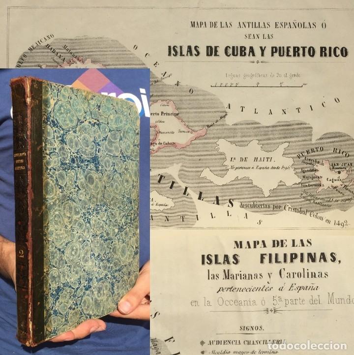 1852 CARTOGRAFÍA - BALNEARIO - CUBA - FILIPINAS - PUERTO RICO - MAPA - AGUAS MEDICINALES (Libros Antiguos, Raros y Curiosos - Geografía y Viajes)