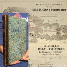 Libros antiguos: 1852 CARTOGRAFÍA - BALNEARIO - CUBA - FILIPINAS - PUERTO RICO - MAPA - AGUAS MEDICINALES. Lote 182093422