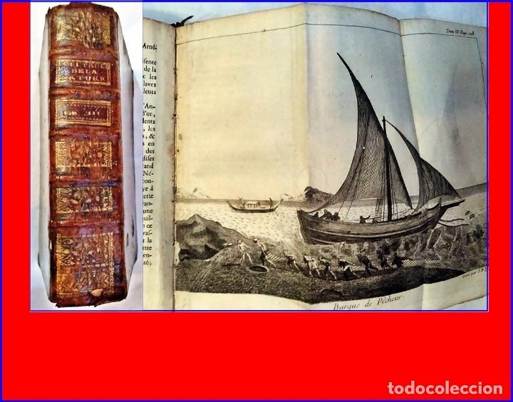 AÑO 1744: LIBRO DEL SIGLO XVIII ILUSTRADO CON EMBARCACIONES. (Libros Antiguos, Raros y Curiosos - Geografía y Viajes)