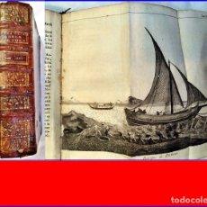 Libros antiguos: AÑO 1744: LIBRO DEL SIGLO XVIII ILUSTRADO CON EMBARCACIONES. . Lote 182366283