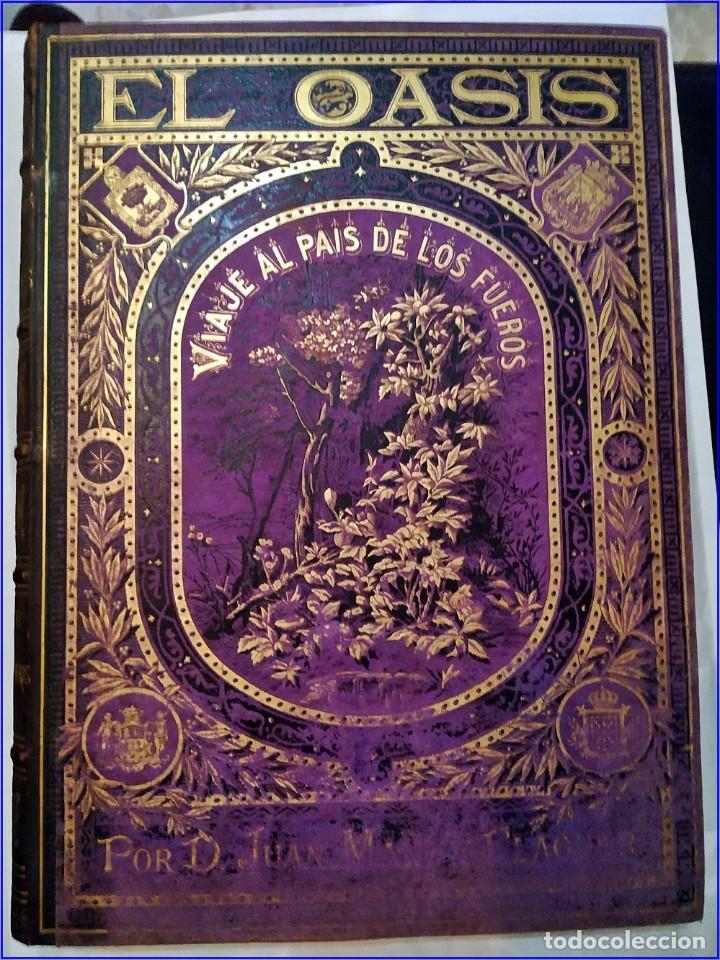 Libros antiguos: AÑO 1878-80: EL OASIS. VIAJE AL PAÍS DE LOS FUEROS. 3 TOMOS ILUSTRADOS DEL SIGLO XIX. MAÑÉ Y FLAQUER - Foto 2 - 182367432