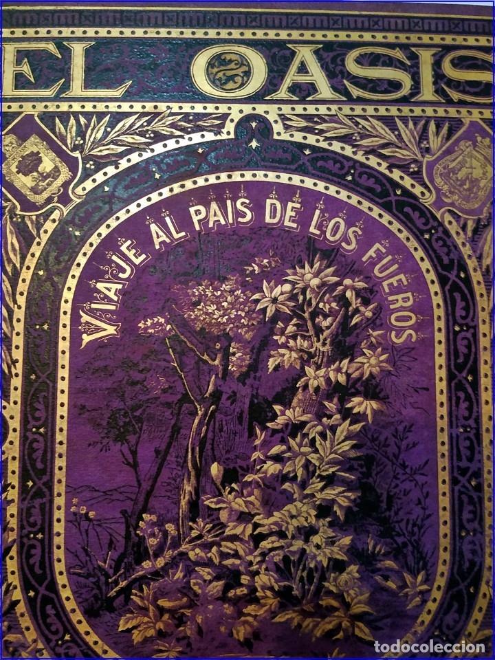 Libros antiguos: AÑO 1878-80: EL OASIS. VIAJE AL PAÍS DE LOS FUEROS. 3 TOMOS ILUSTRADOS DEL SIGLO XIX. MAÑÉ Y FLAQUER - Foto 3 - 182367432