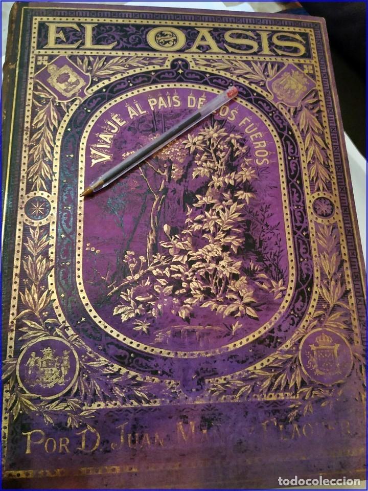 Libros antiguos: AÑO 1878-80: EL OASIS. VIAJE AL PAÍS DE LOS FUEROS. 3 TOMOS ILUSTRADOS DEL SIGLO XIX. MAÑÉ Y FLAQUER - Foto 5 - 182367432