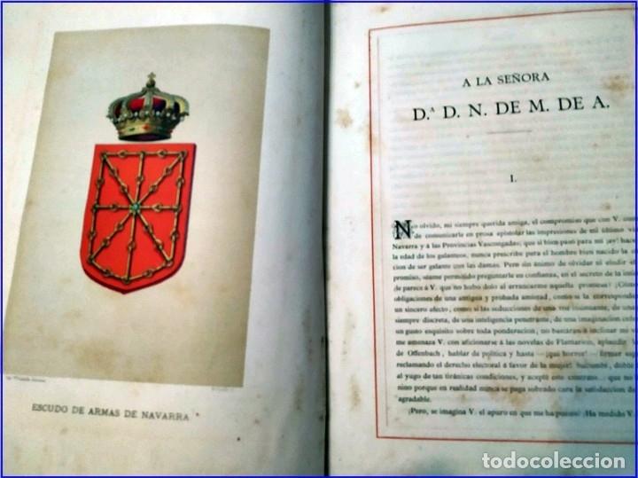 Libros antiguos: AÑO 1878-80: EL OASIS. VIAJE AL PAÍS DE LOS FUEROS. 3 TOMOS ILUSTRADOS DEL SIGLO XIX. MAÑÉ Y FLAQUER - Foto 9 - 182367432