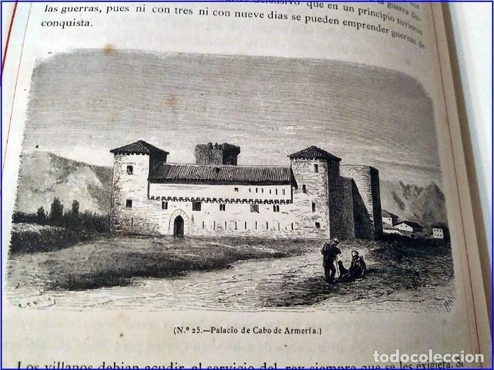 Libros antiguos: AÑO 1878-80: EL OASIS. VIAJE AL PAÍS DE LOS FUEROS. 3 TOMOS ILUSTRADOS DEL SIGLO XIX. MAÑÉ Y FLAQUER - Foto 13 - 182367432
