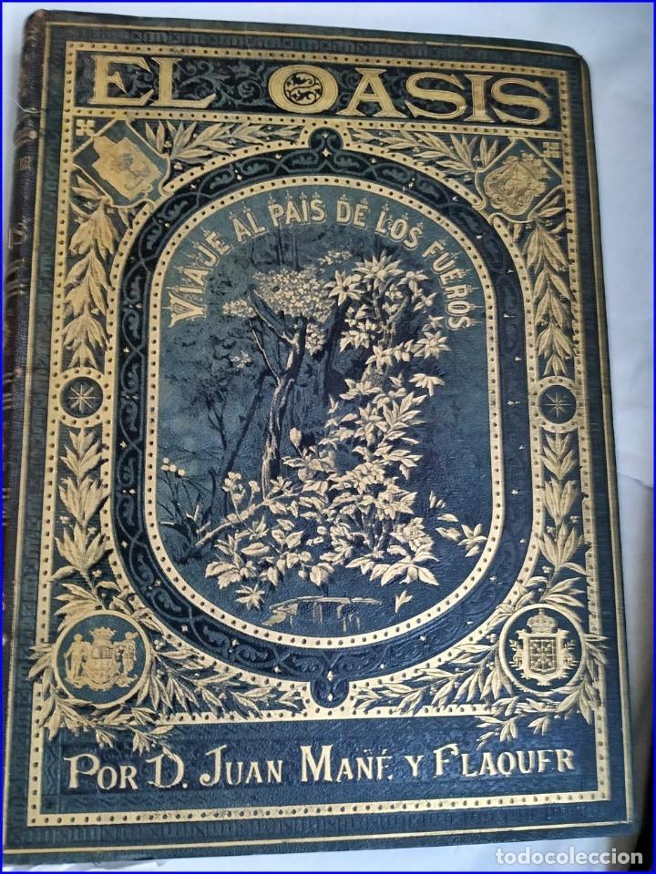 Libros antiguos: AÑO 1878-80: EL OASIS. VIAJE AL PAÍS DE LOS FUEROS. 3 TOMOS ILUSTRADOS DEL SIGLO XIX. MAÑÉ Y FLAQUER - Foto 23 - 182367432