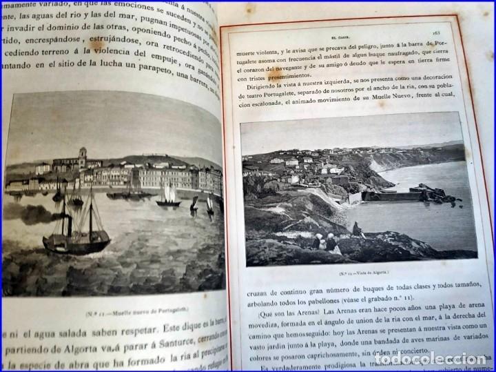 Libros antiguos: AÑO 1878-80: EL OASIS. VIAJE AL PAÍS DE LOS FUEROS. 3 TOMOS ILUSTRADOS DEL SIGLO XIX. MAÑÉ Y FLAQUER - Foto 29 - 182367432